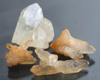 Arkansas quartz crystal cluster collection golden healing crystals rare mineral collection rustic decor hippie decor natural crystals SALE