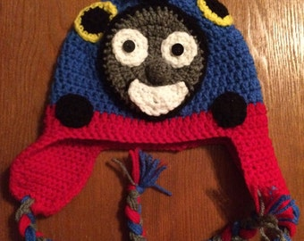 Thomas the Train Crochet Hat