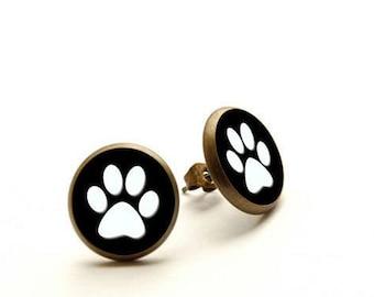 Dog Paw Earrings, Dog Paw Jewelry, dog earrings, Hypoallergenic Earrings