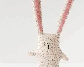 Bunny animal softie, newborn soft toys, stuffed animal bunny, baby safe plush toys, sensory baby toys, easter gift, woodland nursery