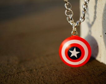 Captain America Bracelet | Capt. America's Shield on a 7-inch Chain