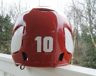 """Number decal, Vinyl  Number  Stickers, 2"""" numbers, Helmet sticker, Number decal, decals, sport, softball decals,softball sticker, baseball"""
