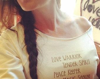 LoVe WaRRioR, TenDer SpIRit, PeaCe KeePeR, MaGic, SeeKeR lightweight Sweatshirt