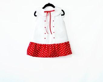 Stars Girl Dress - Nautical Baby Dress- Toddler Dress -Summer dress- Baby Girl Sailor Dress - Baby Dress 3M - 3T