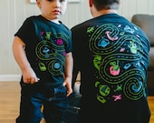 Father Son Matching Shirts. Outer Space Tshirts. Valentines Gift for Dad from Kids. Father Son Shirt. Space Birthday. Toddler Boy Shirt.