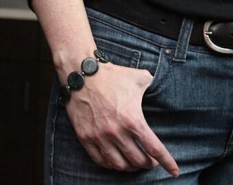 best seller black stretch bracelet / meditation bracelet black jewelry / minimalist jewelry / stretch bead bracelet #421