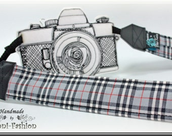 Camera strap, camerastrap, DSLR, black white