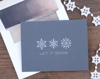 Let It Snow Letterpress Greeting Card