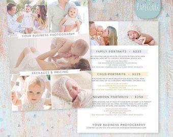 Photography Pricing Packages - Marketing Board - Photoshop template - IP007 - INSTANT DOWNLOAD