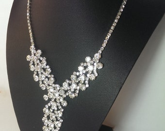 Elegant Rhinestone Statement Necklace