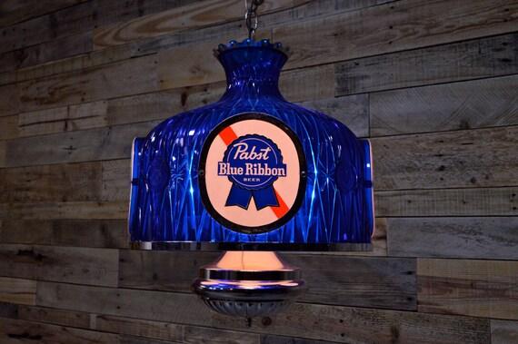 Vintage Pabst Pendant Light Works Pabst Blue Ribbon Hanging