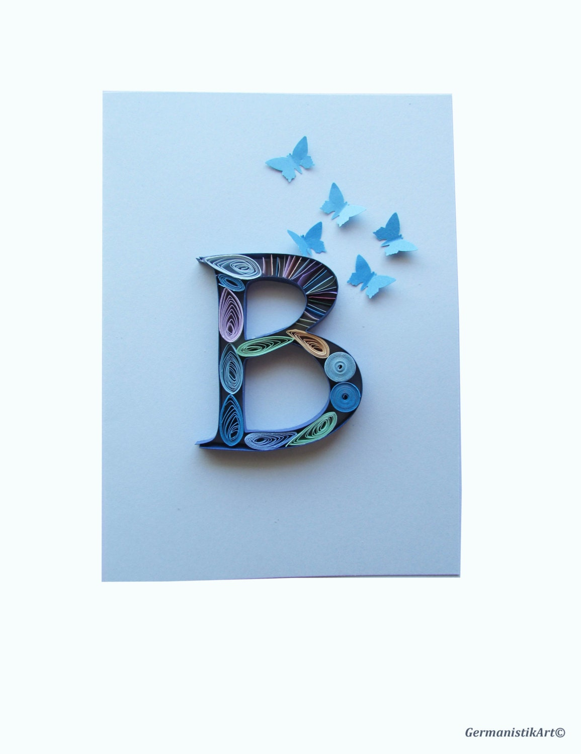 on quilling letter template d