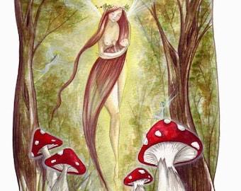 Freya Lady of the Green ~ Small Print