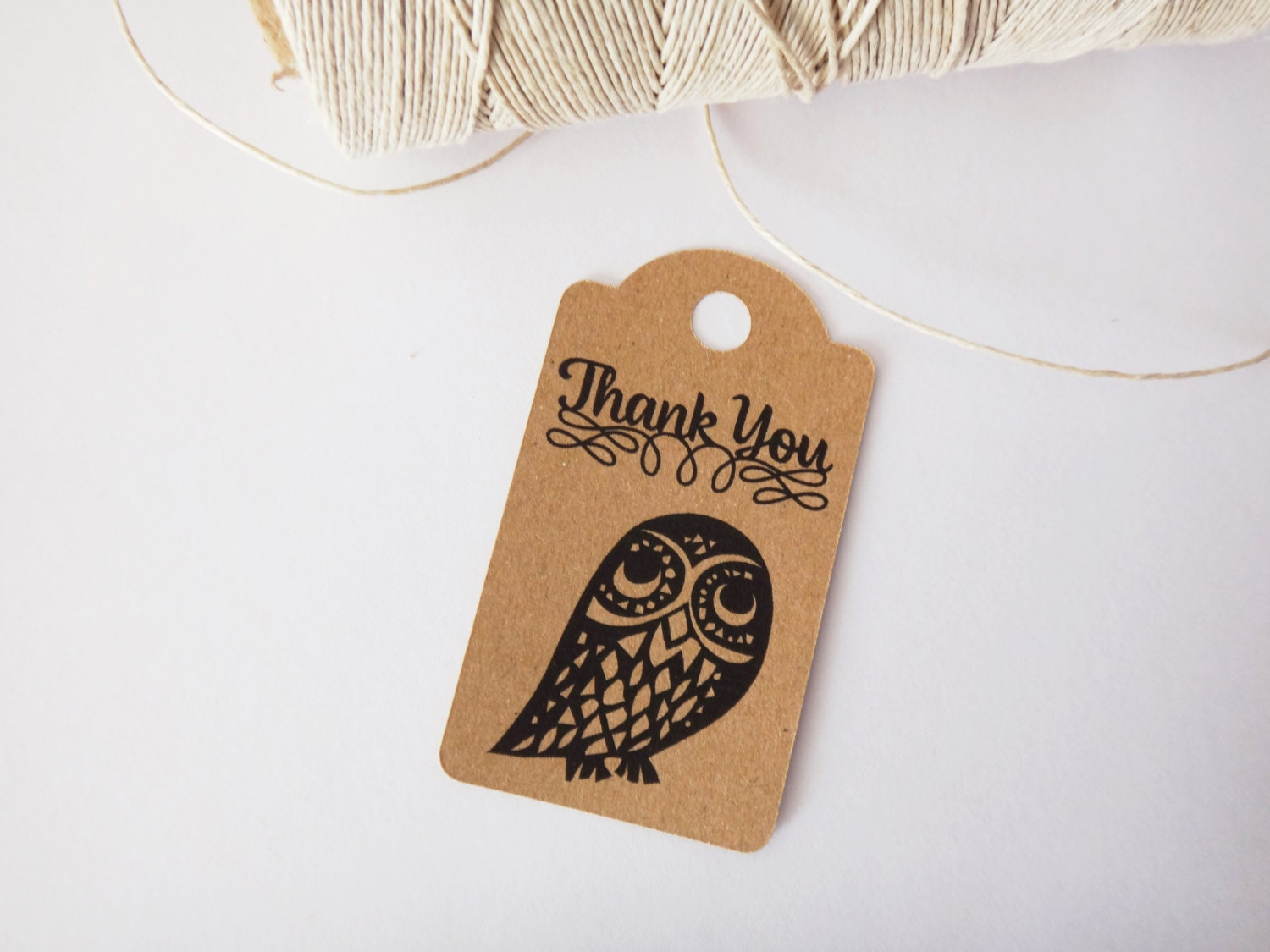 Thank You Wedding Favor Tag Owl Tag Nature By GreenBeltFarm