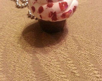 Bloody Cupcake Charm Necklace