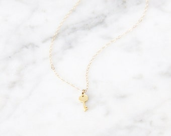 Tiny Key Necklace - 1021