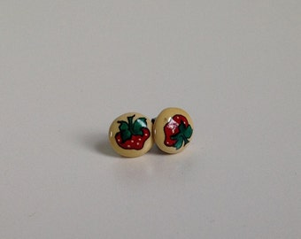 Vintage Strawberry Stud Earrings