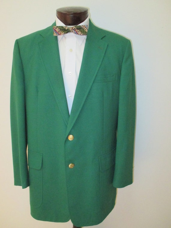 Green Blazer Preppy Men's Green Sport Coat Kelly