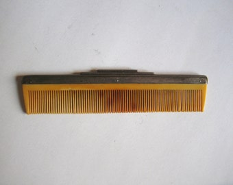 antique German sterling silver hair comb marked 835s crown