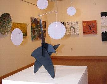 SALE Modern Sculpture Mobiles Balanced Stabile Art Piece Calder Styled One of a kind XLarge Trinitron