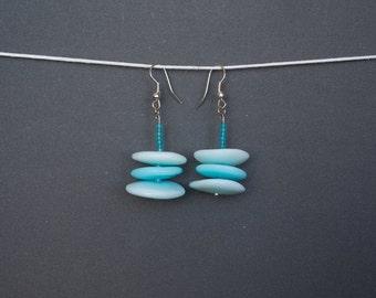 Polymer clay earrings Blue earrings Summer earrings Dangle earrings Spring earrings Long earrings Pastel earrings Casual earrings Beadwork