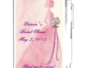 24 Pink and Purple Bridal Shower Notebook Favors