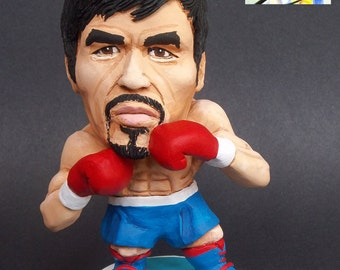 Manny Pacquiao Boxing Champion caricature sculpture Sports miniature