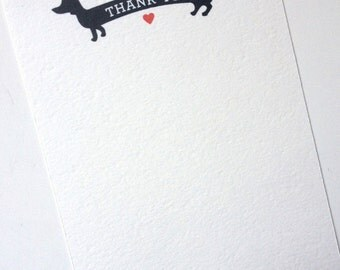Printable Weiner Dog Thank You Notes