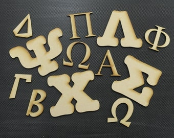 4 inch greek mdf wood letters and numbers 18 thick 4 high