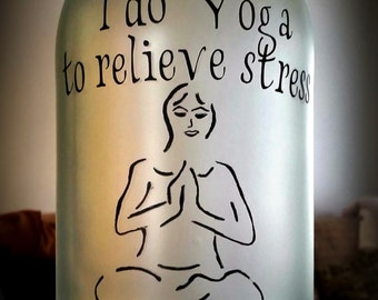 Yoga lighted bottle