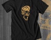 Skull Scream Tshirt Hipster Tshirt Indie Tshirt Music T shirt Hip Hop Clothing Indie Clothing Gifts for Him Christmas gifts for him sales
