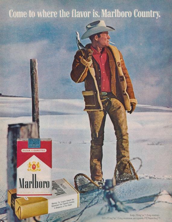 Impresión de la foto del vaquero de Marlboro por AdVintageCom