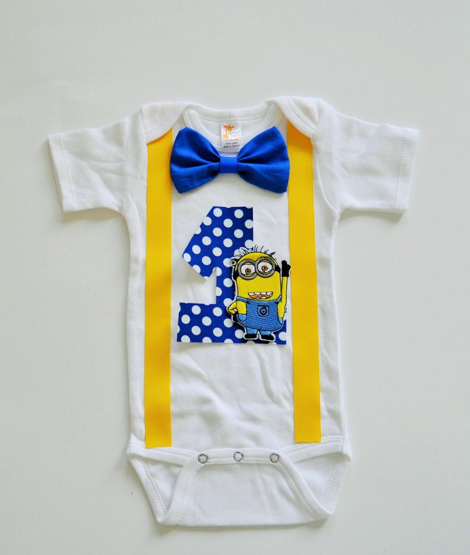 Minions birthday shirt Minions birthday bodysuit by RYLOwear