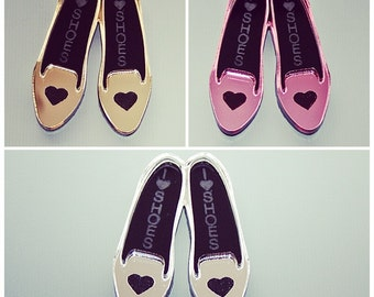 Laser Cut I Love Shoes Flats or Loafers 10 Pieces