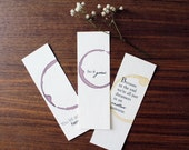 Bookmarks, Pick Any Three Mix and Match Bookmark Set, Gift for readers, Unique Bookmarks, Quote Bookmark, Gift For Book Lover Bookworm Party