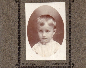 Antique Photo of Darling Little Boy