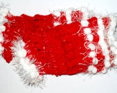 Reserved for Lea - Festive Sparkle Mittens red and white
