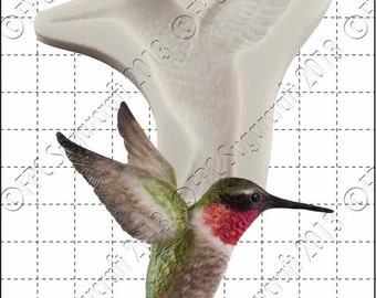 Hummingbird silicone mould (mold) - 'Hummingbird' by FPC Sugarcraft | resin mold, fimo mold, polymer clay mold, soapmaking mold B021