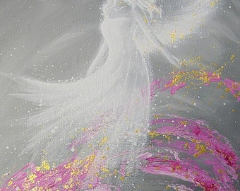 """Limited angel art photo """"fulfillment"""" , modern angel painting, artwork,ideal also for picture frame, gift,spiritual,magic,mystic"""