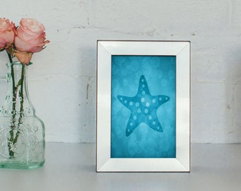 Starfish Art Print 4 X 6, 5 X 7, Sea Life Nursery Decor, Sea Life Prints, Starfish Decor, Bathroom Decor, Beach House Wall Art Decor