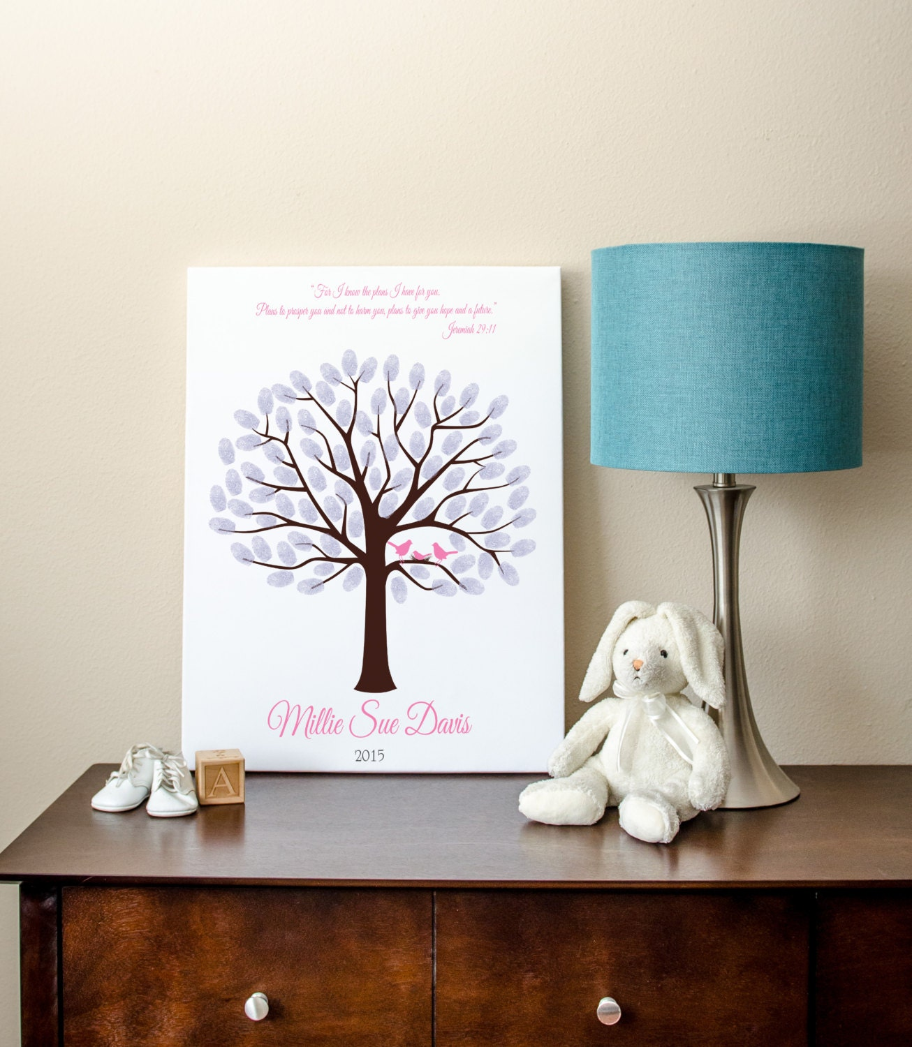 Baby Shower Tree Images ~ Baby shower fingerprint tree guest book