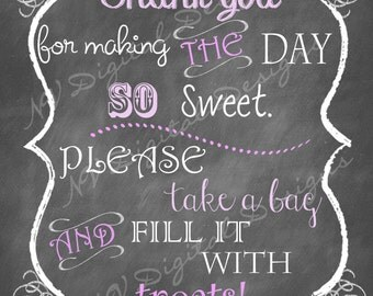 Candy Buffet Chalkboard - Candy Table ChalkSign- Digital File