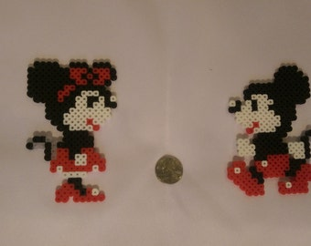 Mickey & Minnie - Perler Bead Sprite Set of 2