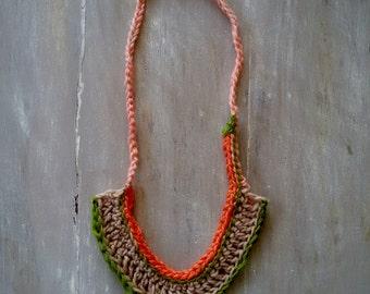 MELITI - statement  crocheted bib necklace