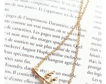 SERENDIPITY COLLECTION-Handmade Petite Leaf Necklace, Little Dainty Necklace/ Layering Necklace