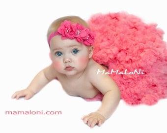 Raspberry hot pink Baby Headband, Newborn Headband, Triple Flower Baby Headband, Baby headbands, Baby girl headbands, Baby hair bows Bows