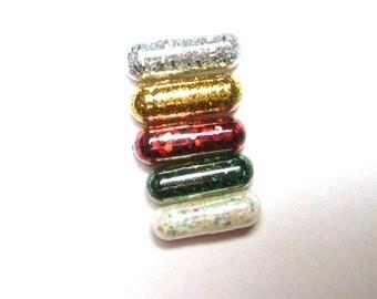 Christmas Glitter Pills, Glitter Pill, Christmas Colors, 5 Pills, Unique Gift, Funny Gift, Gag Gift, Raver Gift, Girl Gift, Craft Gift