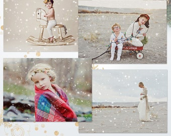 Snow Photo Overlays for Photographers - C239, INSTANT DOWNLOAD
