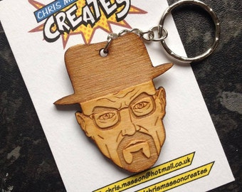 Breaking Bad Keyring or Brooch. Walter White, Heisenberg.