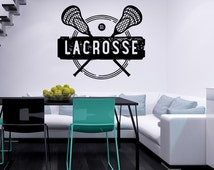 Lacrosse Wall Decal Vinyl Sticker Decals Emblem Sport Stamp Lacrosse Logo Home Decor Bedroom Office Window